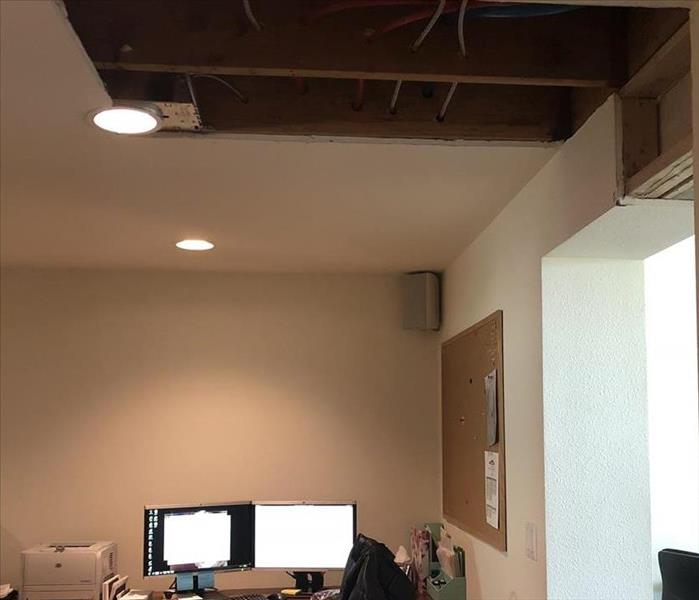 Water Damage in Lynnwood Commercial Office Space After